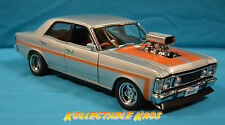 1:18 Biante - Ford XW GTHO Street Machine - Aluminium Silver with Orange Stripes