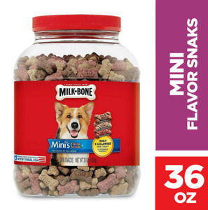 Milk-Bone Mini's Flavor BITE Size Bone Minis Flavor Snacks Dog Treats 36 Ounce
