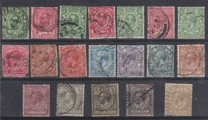 KING GEORGE V   USED GREAT BRITAIN SELECTION OF 19 STAMPS - ALL SHOWN  IN SCAN