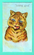 BY LOUIS WAIN CAT VINTAGE EMBOSSED POSTCARD 317