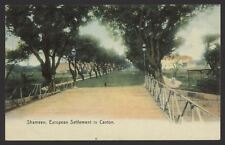 More details for china. shameen. european settlement in canton. c1908 colour printed postcard