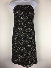 Torrid Lace Gold and Black Tube Dress Size 2 Fits like a Size 18
