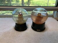 2 Vintage Snow Globes Atlas Crystal Works Covingtion Tenn Boy plus Snowman Globe