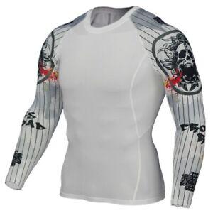 MMA Brazilian Jiu Jitsu Long Sleeve Rashguard Compression Top BJJ Rash Guard