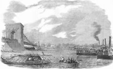 ROWING. Gt boat-race for Championship of Thames &, antique print, 1857