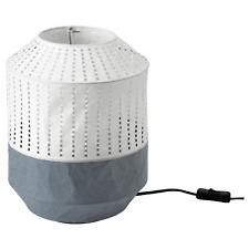 "IKEA MAJORNA Table Lamp White/Gray 13"" Paper NEW"