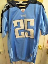 NFL TENNESSEE TITANS JERSEY #25 WHITE REEBOK ON FIELD SIZE 52