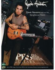 2003 PRS Singlecut Trem Electric Guitar DAVE NAVARRO Vtg Print Ad