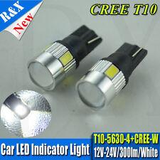 1X T10 4 LED 5630 5W Cree Pure White AC 12V-24V LED Bulbs Reverse Interior Park