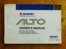 Suzuki Alto Owner's Manual (Paperback, 1998)