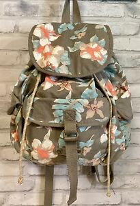 American Eagle Outfitters Floral Cotton Canvas School Backpack Rucksack Handbag
