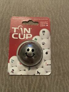 Tin Cup Golf Ball Marker - Groovy Smiley Face