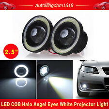 "2.5"" 64mm Car SUV White LED COB Halo Angel Eye Rings Fog Light Projector Lamp"