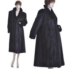 Mint! Rare Petite! Black Beauty! Real Female Canadian Black Mink Fur Coat