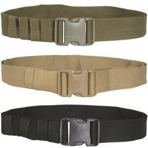 Mil-Tec Mens Military Army Belt Quick Release Buckle Tactical Security 50mm Wide