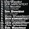1x WUNSCHTEXT 10cm Breit Aufkleber Auto Domain Cartattoa Beschriftung Schriftzug