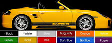 "Porsche Boxster Running Board Decals Pair (2) 3"" x 65"" Choose Color ! Buy Now !"