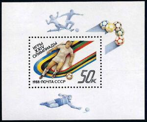Russia 5685 s/s, MNH. Olympics, Seoul. Soccer, 1988