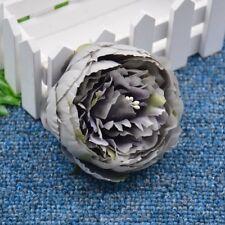 10/15 Heads Artificial Hydrangea Silk Fake Flowers Wedding Bridal Favor Decor UK