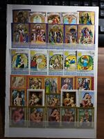 Religion Ostern Pascua Weihnachten Navidad Lot Briefmarken Stamps Sellos Timbres