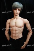 1/3 BJD Doll Man Ender Male With Eyes Free FaceUp Resin Figures Tan skin