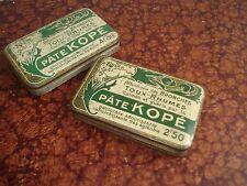 2 Boîtes Tôle de médicament Pâte KOPE Collection Pharmaceutique Médecine