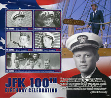 Gambia 2017 MNH JFK John F Kennedy 100th Birthday 5v M/S II US Presidents Stamps