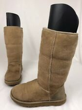 Ugg Australia Classic Tall Sand Sheepskin Boots 5815 Women's 8