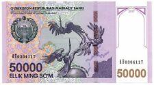 UZBEKISTAN:  NEW Banknote 50000 SOM SUM SOUM 2017 UNC