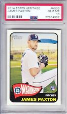 2014 Topps Heritage High Number #H503 James Paxton RC Mariners PSA 10 Gem Mint