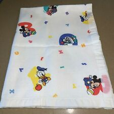 New listing Vtg Dundee Disney Babies Crib Baby Blanket Abc Mickey Minnie Pluto Acrylic Usa