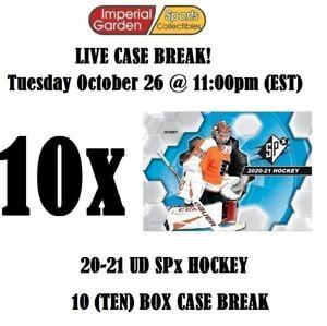 2020-21 UD SPX HOCKEY 10 BOX CASE BREAK #2768 - San Jose Sharks