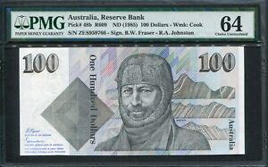 Australia 1985, 100 Dollars, P48b, PMG 64 UNC