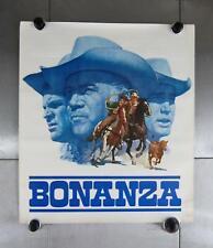 "VTG Bonanza TV Show 1959 21"" x 24"" Promo Art Poster Western"