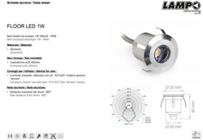 FARETTO LED INCASSO PAVIMENTO SILVER 12V 1W 60° LUCE 4000K LAMPO FLOORLED1W/BN
