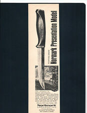 Normark Presentation Model Hunting Knife.Steel Alloy Blade Smaller Vintage Ad G1