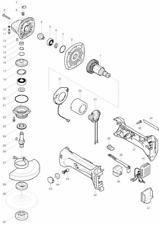 NEU Original Makita BGA452 Angle Grinder Repair Spare Parts Replacement