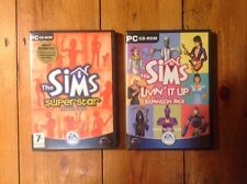 THE SIMS LIVIN 'It Up & SUPERSTAR EXPANSION PACK GIOCO PER PC