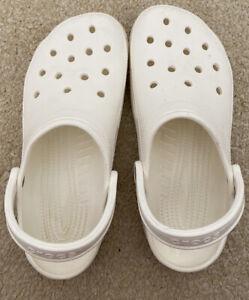 white crocs size 7