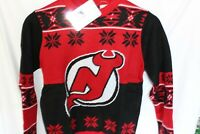 NHL New Jersey Devils Ugly Christmas Sweater Youth New With Tags Medium