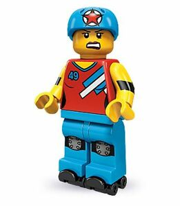 Lego collectable series 9 minifig Roller Derby Girl with skates