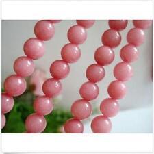 8MM Natural Pink Morganite Ruby Round Jade Stone Loose Beads 15''