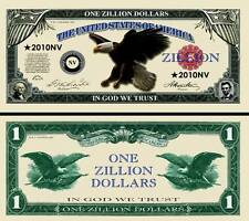 Eagle Zillion Dollar Bill #2010NV  Fake Play Funny Money Collector Novelty Note