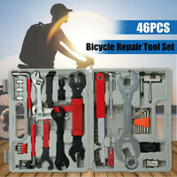 46Pcs Bicycle Repair Tool Set Mountain Bike Crank Freewheel Chain Remover Kits