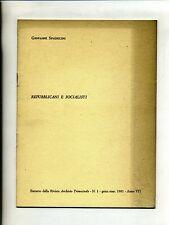 Spadolini#REPUBBLICANI E SOCIALISTI#Estratto Archivio Trimestrale n.1 1981