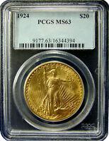 CH/GEM BU NGC / PCGS MS63 (RANDOM COMMON DATE) $20 SAINT GAUDENS GOLD U.S. COIN