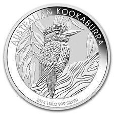 2014 1 Kilo Silver Australian Kookaburra Coin - Brilliant Uncirculated-SKU#78051