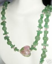 "Genuine Green Aventurine & Freshwater Pearl 19 "" Necklace"