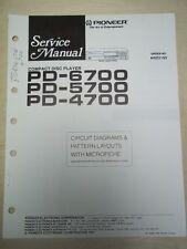 Pioneer Service Manual~PD-6700/5700/4700 CD Player~Original~Repair