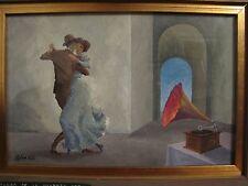 SIGFREDO PASTOR Original Painting Listed Argentinian Artist TANGO Theme SIGNED